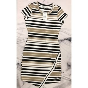 NWT Almost Famous Striped Bodycon Dress